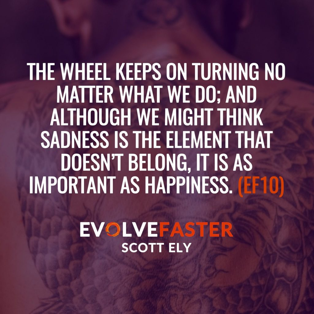 (EF10) S1-E8: The Road to Happiness is Inked in Suffering The Evolve Faster Podcast with Scott Ely Season One